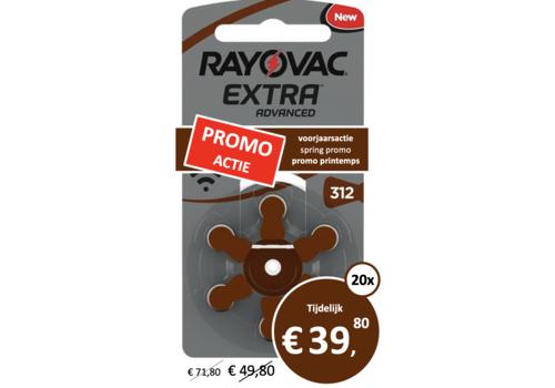Rayovac Rayovac 312 Extra Advanced (blister/6) - 20 pakjes