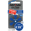 Rayovac Rayovac 675 PR44) Extra Advanced - 20 colis (120 piles)