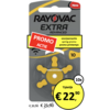 Rayovac Rayovac 10 (PR70) Extra Advanced - 10 pakjes (60 batterijen)