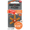 Rayovac Rayovac 13 (PR48) Extra Advanced - 10 colis (60 piles)