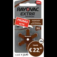 Rayovac 312 (PR41) Extra Advanced - 10 pakjes (60 batterijen)
