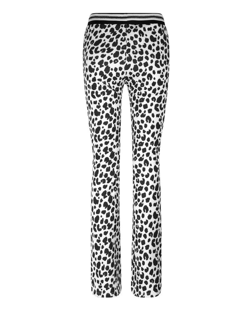 Fay Leopard Blanc