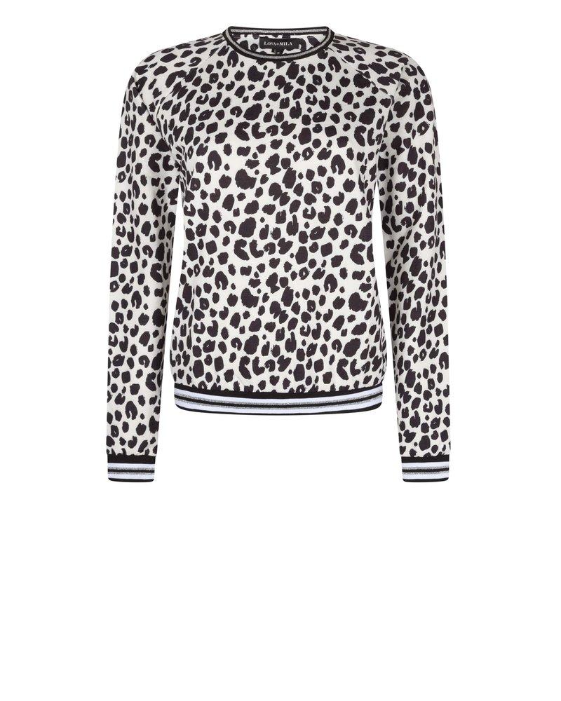 Abby Leopard Blanc