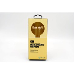 Earphone Metal Bass Yellow Celebrat (8719273225875)