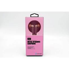Earphone Metal Bass Pink Celebrat (8719273225868)