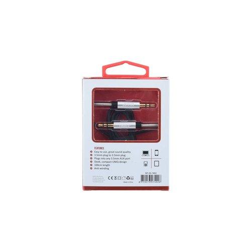 UNIQ Accessory UNIQ Accessory Audiokabel Anti-Winding AUX - Zilver