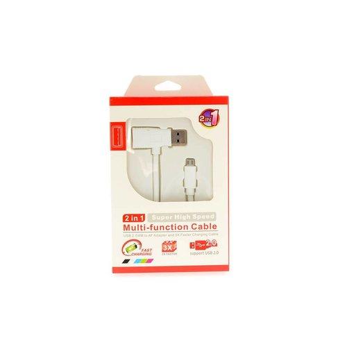 Andere merken 2 in 1 USB Kabel USB port - Wit (8719273146705 )