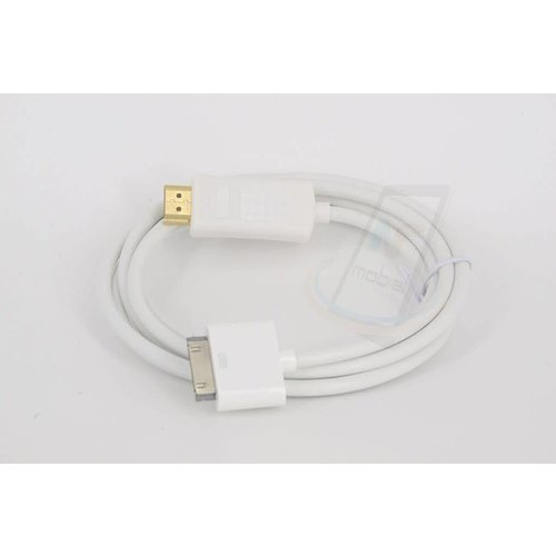 Andere merken Apple iPad iPhone iTouch30-pin to hdmi kabel wit
