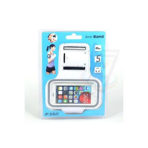 Andere merken Apple iPhone 5G-S - iPh 5G-S - Sportief Armband - Wit