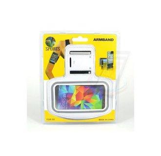 Samsung Galaxy S5 - G900F - Sportief Armband - Wit