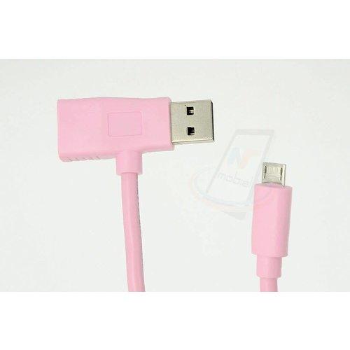 Andere merken 2in1 Imitatie Micro USB Kabel - Roze