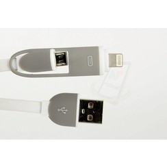 Imitatie 2 in 1 USB Kabel - Wit