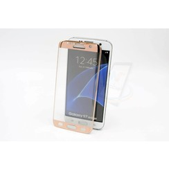 Tempered glass voor Galaxy S7 Edge (8719273209332)-Rose Gold