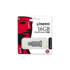 Kingston 16 GB USB Stick - Silver 740617255638