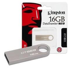 Kingston 16 GB USB Stick - Silver 740617198256