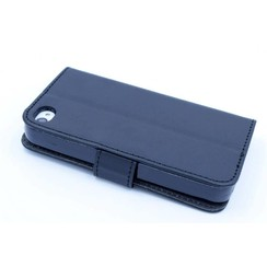 Apple iPhone 4G/S - iPh 4G/S - Business Leatherette Book case - Black