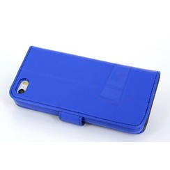 Apple iPhone 5C - iPh 5C - Silicone Business Book case - Blue