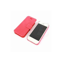 Apple iPhone 5C - iPh 5C - Twopart Leatherette Book case - Pink