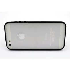 Silicone coque noir - Apple iPhone 5G/S/SE (8719273227541)