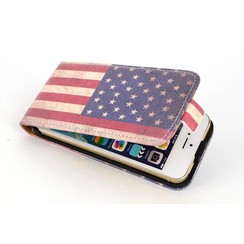 Apple iPhone 5C - iPh 5C - Flags Flip case - Usa