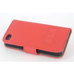 Book case voor Apple iPhone 4G-S - Rood