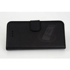 Apple iPhone 5/5s/SE Pasjeshouder Zwart Booktype hoesje - Magneetsluiting - Kunststof;TPU