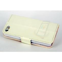 Apple iPhone 5/5s/SE Pasjeshouder Wit Booktype hoesje - Magneetsluiting - Kunststof;TPU