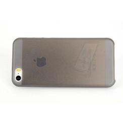 Apple iPhone 5C - iPh 5C - Mat coque Flip coque - noir