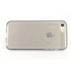 Apple iPhone 5C - iPh 5C - Transparent Flip coque - noir