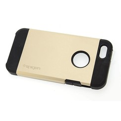 Apple iPhone 5G/SE - iPh 5G/SE - Spigen Slim Armor Flip case - Gold