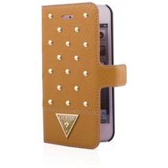 Guess Book case voor Apple iPhone 5G/5S - Goud