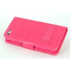Apple iPhone 5/5s/SE Card holder Pink Book type case for iPhone 5/5s/SE Magnetic closure