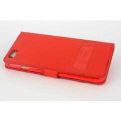Apple iPhone 6/6S Card holder Red Book type case for iPhone 6/6S Magnetic closure