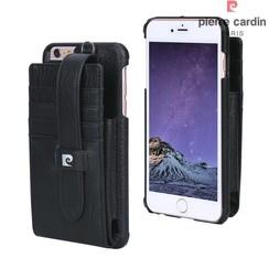 Pierre Cardin Backcover voor Apple iPhone 6 Plus - Zwart