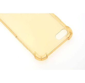 Backcover hoesje  voor Apple iPhone 7G; Apple iPhone 8G - Goud/Transparant