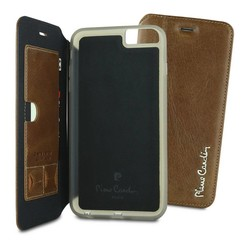 Apple iPhone 6/6S Plus Pierre Cardin Book case - Brown (8719273215098)