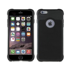 Apple iPhone 6/6S Pasjeshouder Zwart Booktype hoesje - Magneetsluiting - Kunststof;TPU