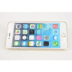Apple iPhone 6/6S + - iPh 6/6S + - Diamanten Flip coque - Clear