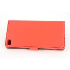 Huawei  P8 Titulaire de la carte Rouge Book type housse - Fermeture magnétique