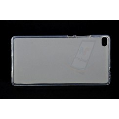 Acsend  Ascend P8 - P8 - Matt Backcover Silicone coque - Clear