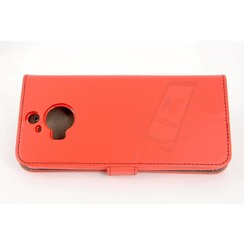 HTC One M9 Card holder Red Book type case for One M9 Magnetic closure