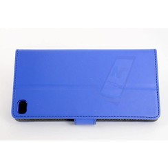 Huawei  P8 Card holder Blue Book type case for  P8 Magnetic closure