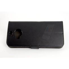 HTC One M9 Pasjeshouder Zwart Booktype hoesje - Magneetsluiting - Kunststof;TPU
