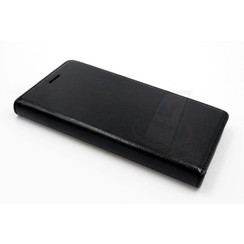 Huawei  P8 Pasjeshouder Zwart Booktype hoesje - Magneetsluiting - Kunststof;TPU