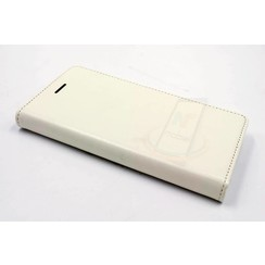 Huawei  P8 Pasjeshouder Wit Booktype hoesje - Magneetsluiting - Kunststof;TPU