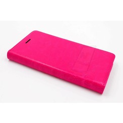 Huawei  P8 Pasjeshouder Roze Booktype hoesje - Magneetsluiting - Kunststof;TPU