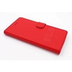 Huawei  P9 Pasjeshouder Rood Booktype hoesje - Magneetsluiting - Kunststof;TPU
