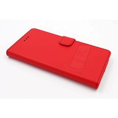 Huawei  P9 Titulaire de la carte Rouge Book type housse - Fermeture magnétique