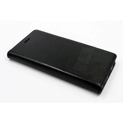 Huawei  P9 Pasjeshouder Zwart Booktype hoesje - Magneetsluiting - Kunststof;TPU