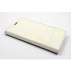 Huawei  P9 Pasjeshouder Wit Booktype hoesje - Magneetsluiting - Kunststof;TPU